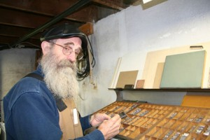 Joe Green in his studio