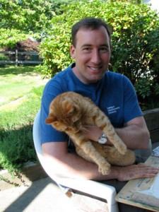 Scott with his cat