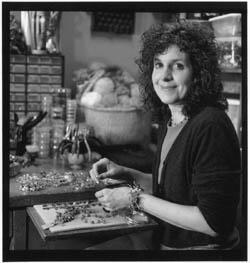Vicki Brigden at work in her studio