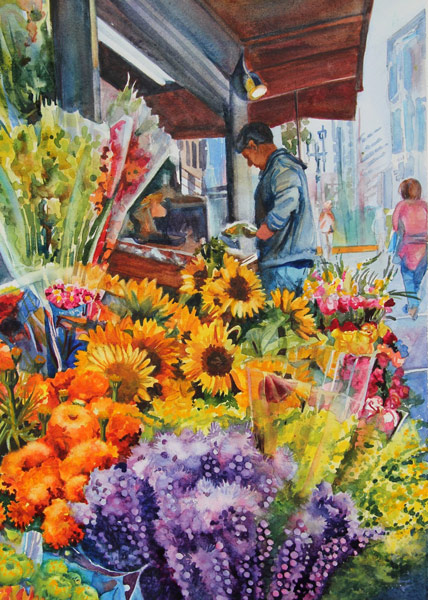 San Francisco Flower Vendor