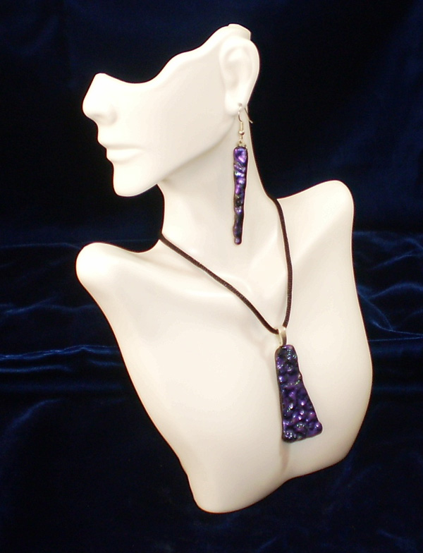 Janet Ellis, Purple Jewelry Set