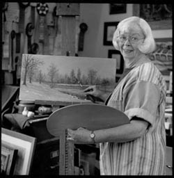 Gini Smith in her studio