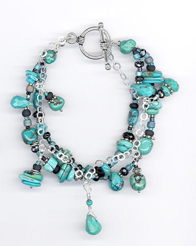 fortnerMary_multiStrandTurquoiseBracelet