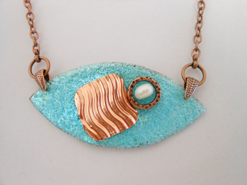 copper, dvd and pearl jewelry