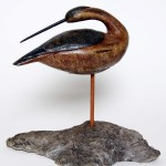 Carved wooden decoy