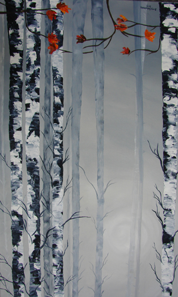 Sunstruck Birch by Susy Halverson