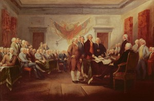 The signing of the Declaration of Independence by artist John Trumbull