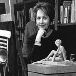 artist with sculpture