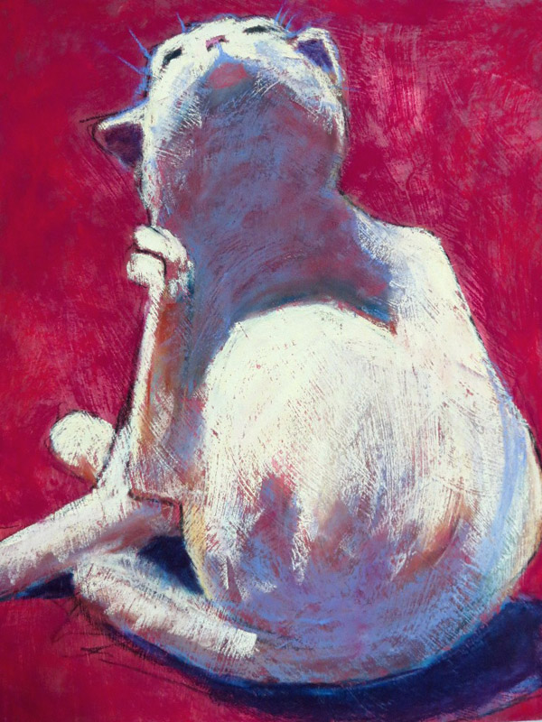 Jeanne Hamilton -Cat on Red