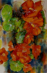 Susan Supola - Nasturtiums after the Rain