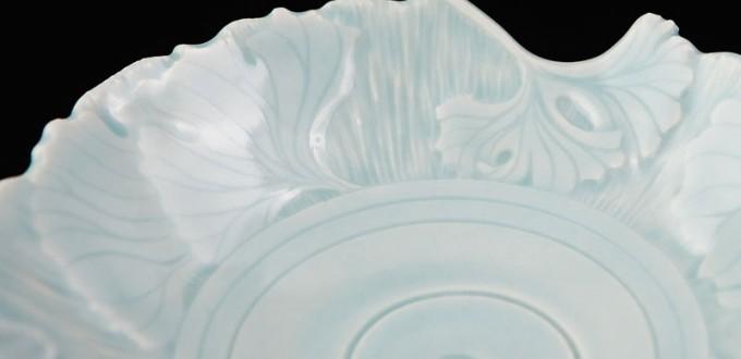 Bernadette Crider April 2015 - Porcelain Detail of bowl rim