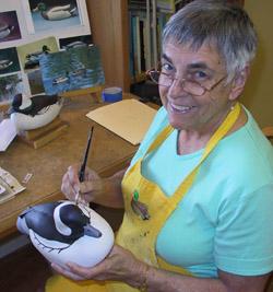 Wood carver JoAnne Watson