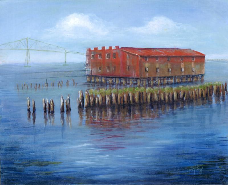 Astoria Old Cannery by artist Mitzi Christensen