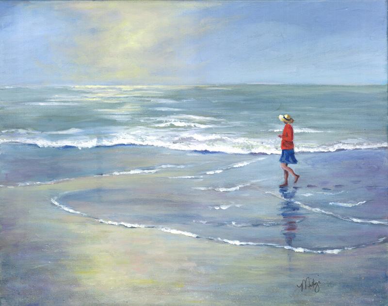 Beach Walk by artist Mitzi Christensen