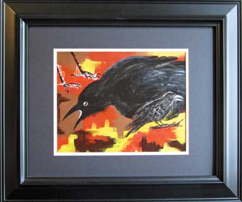 painting of crow