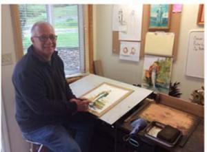 Watercolorist Stan Riedesel
