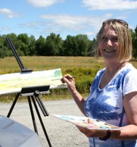 artist painting en plein air