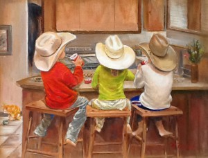kids in cowboy hats