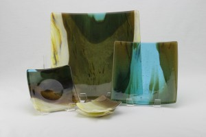 set of 4 glass dishes