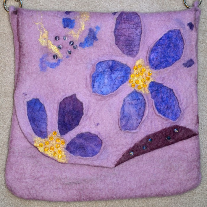 Felt ladies bag