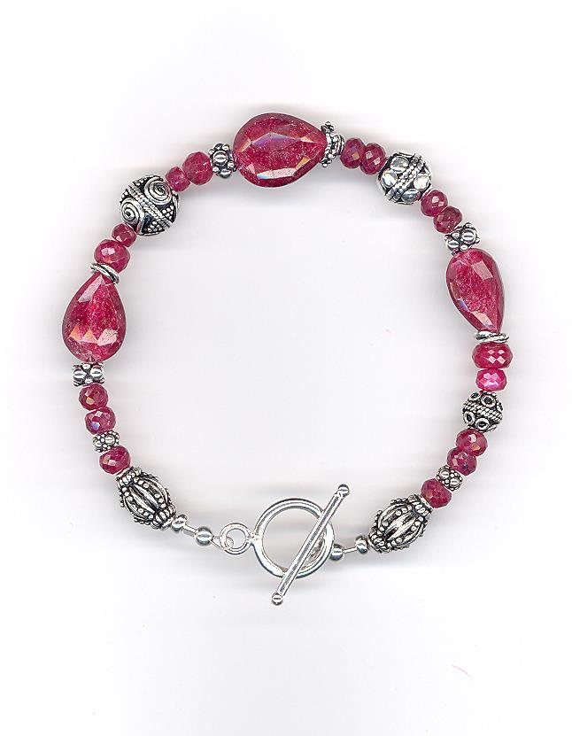 Ruby & Sterling Bracelet