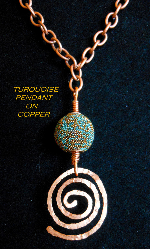 Turquoise Pendant on Copper