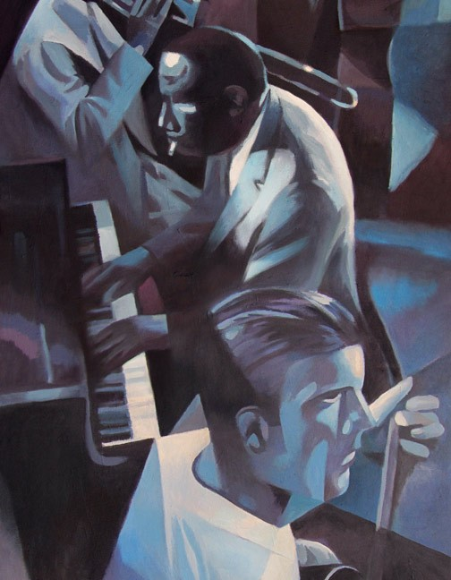 painting of a pianist