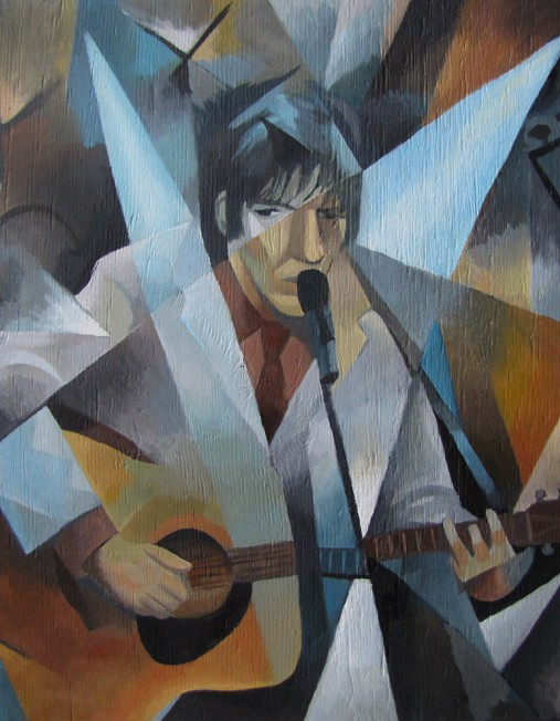 painting of guitarist