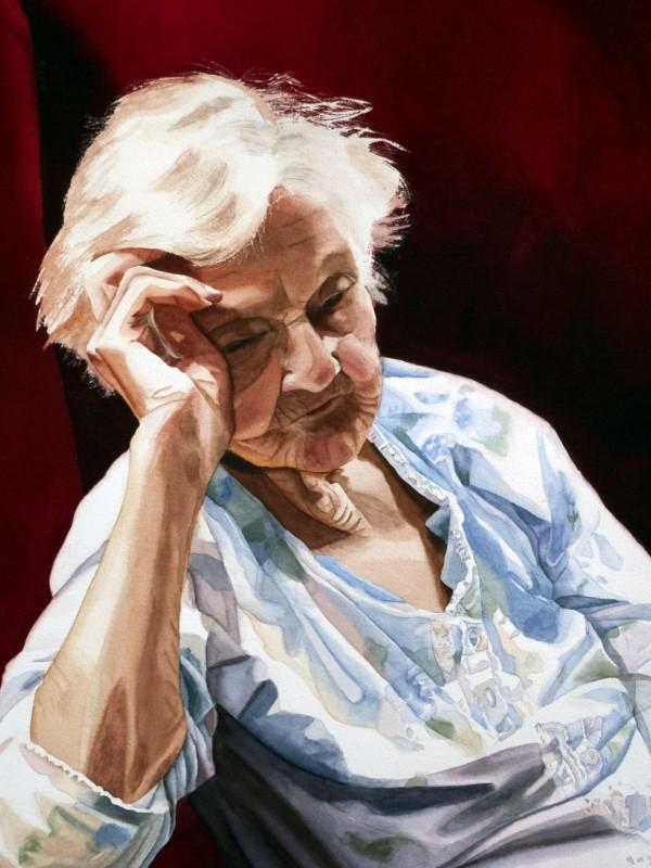 older lady resting