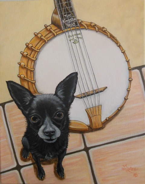 a dog and a banjo