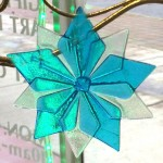 baby blue glass star