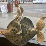 mermaid on a fish