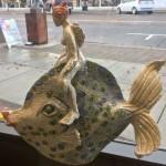 mermaid on a fish