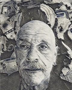pen and ink illustration self-portrait