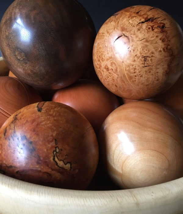 Various wood spheres