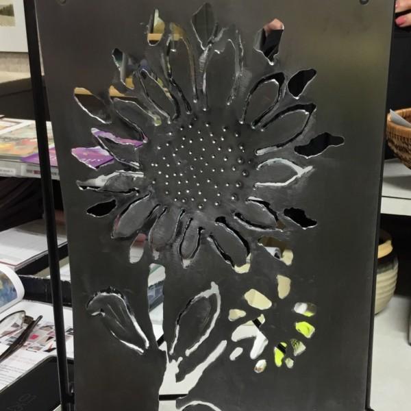 Plasma cut of Sunflowers