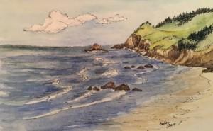sand, surf and coastline