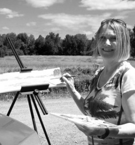 artist painting in plein air