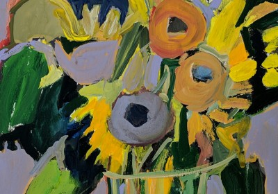 darker colored sunflowers