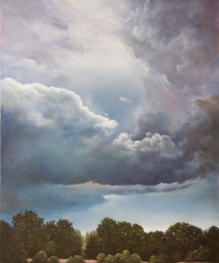 painting of stormy clouds clearing