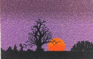 Purple sunset scene