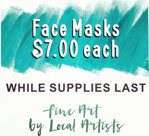 Sign of face masks for $7