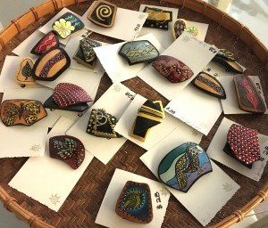 various shape, color and design gourd pieces