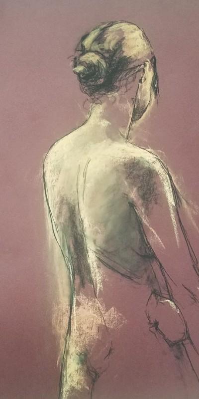 study of human figure with lighting