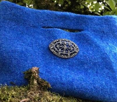 bright blue purse