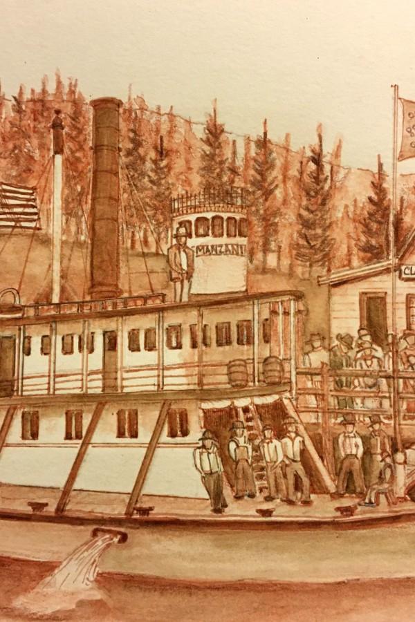 historical image of sternwheeler