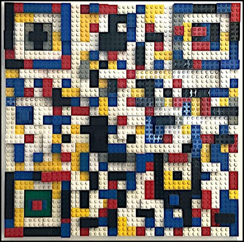 lego 3D design of QR Code
