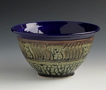 blue and gray bowl