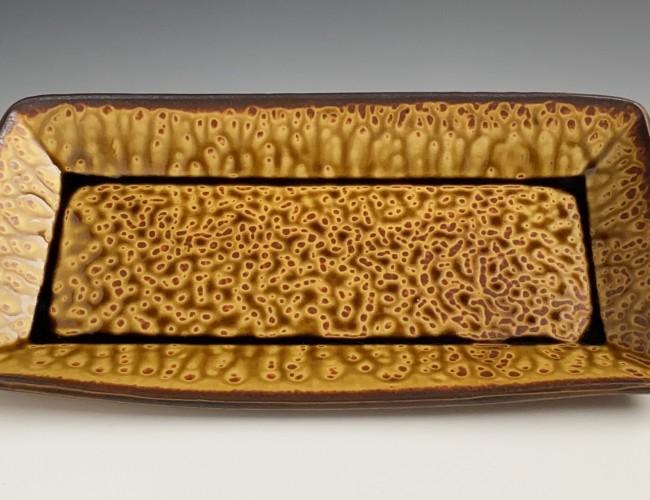 earthtone rectangular tray