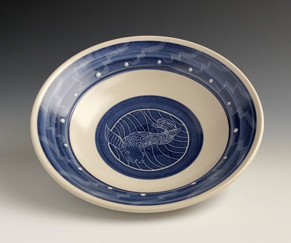 blue and white designed porcelain